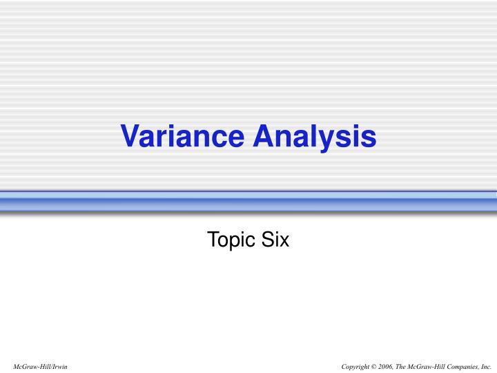 variance analysis n.