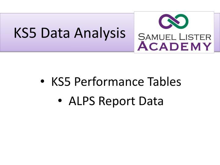 Ks5 data analysis