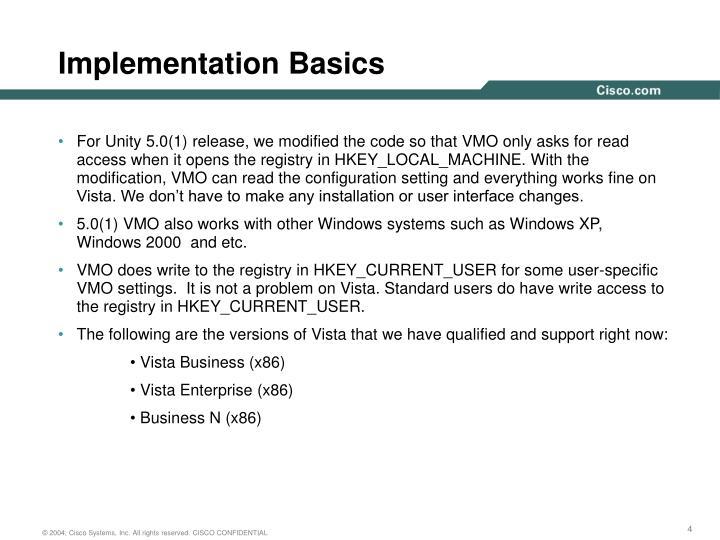 Implementation Basics