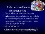 inclusie meedoen in de samenleving