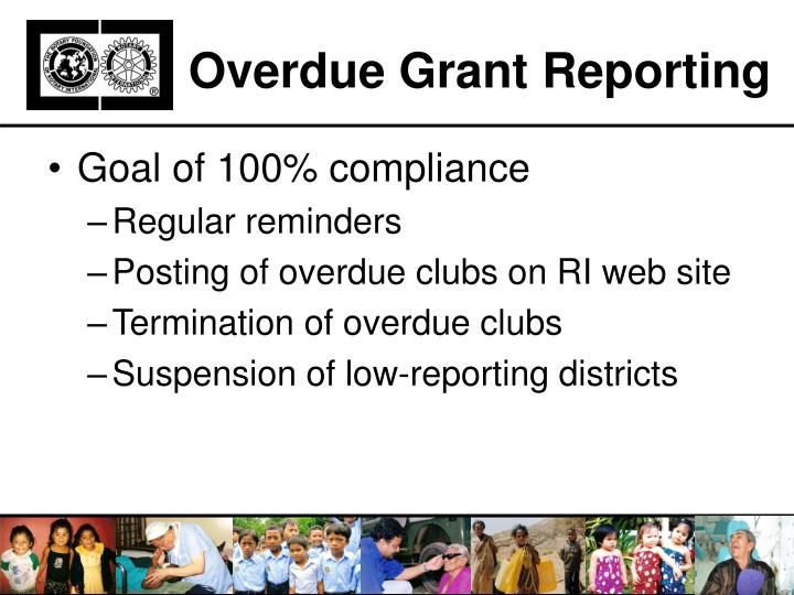 Overdue Grant Reporting
