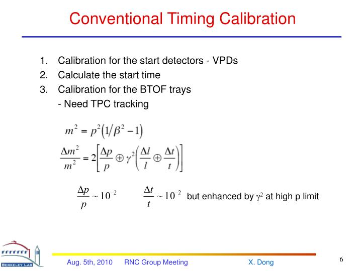 Conventional Timing Calibration