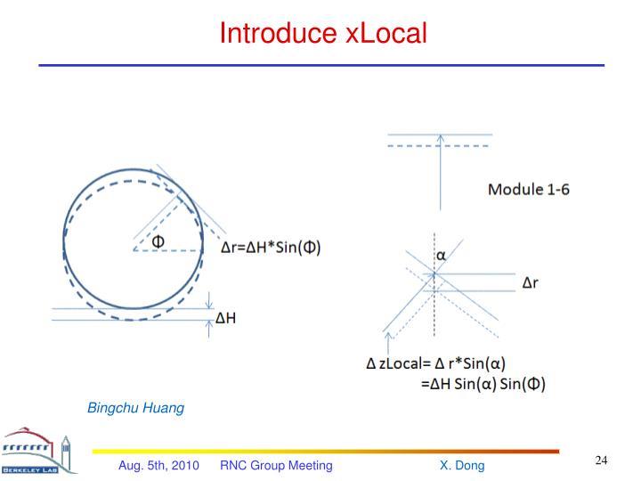 Introduce xLocal
