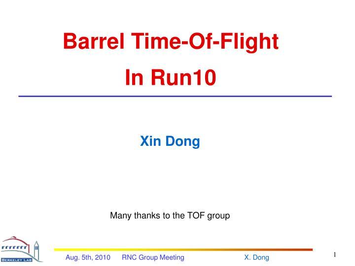 Barrel Time-Of-Flight