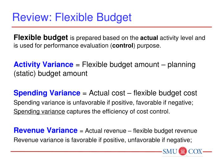 Review flexible budget