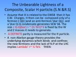 the u nbearable lightness of a composite scalar h particle s n r s