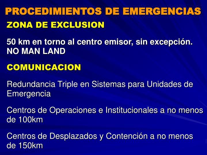 PROCEDIMIENTOS DE EMERGENCIAS