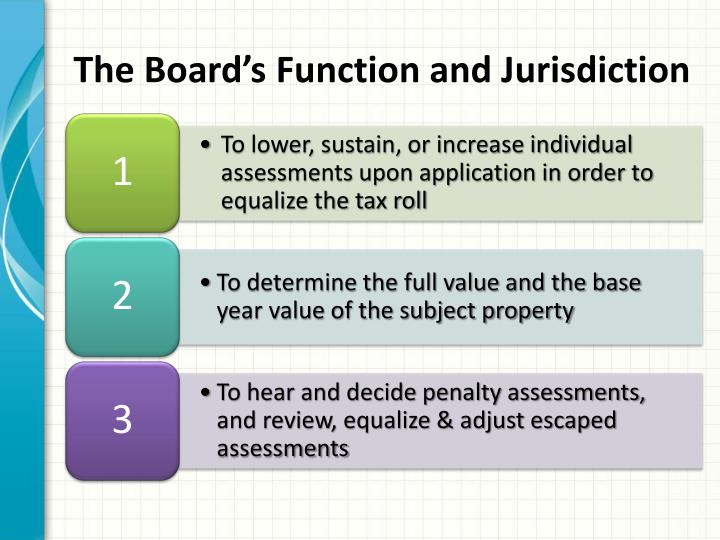 The Board's Function and Jurisdiction