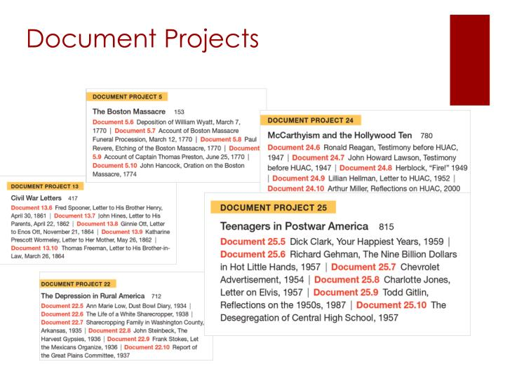 Document Projects