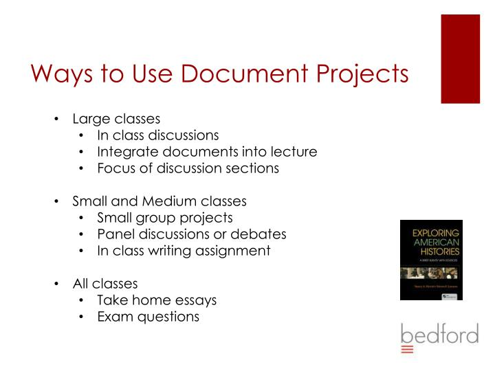 Ways to Use Document Projects