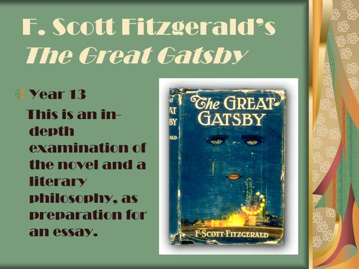 the great gatsby literary essays Correction to this article a jan 2 style column on f scott fitzgerald's the great gatsby 'gatsby': the greatest of them a literary one, though.