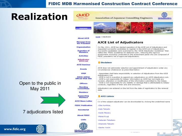 FIDIC MDB Harmonised Construction Contract Conference
