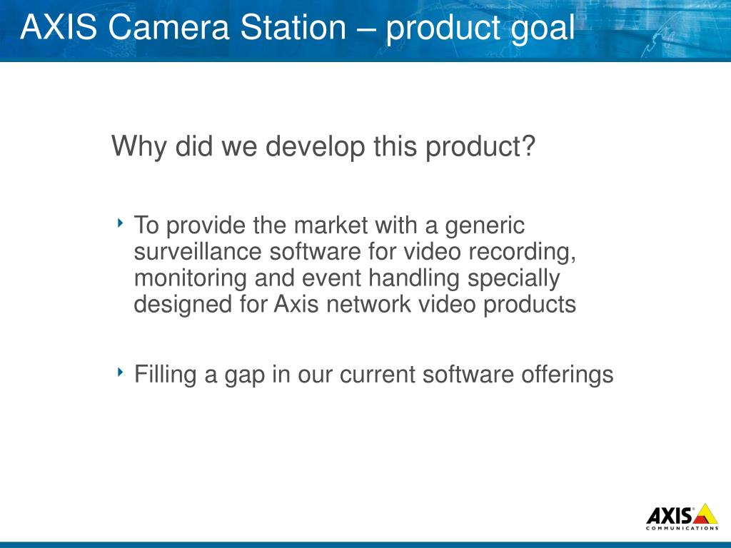 PPT - AXIS Camera Station PowerPoint Presentation - ID:3392236
