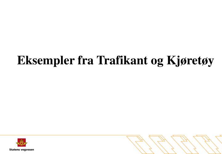 Eksempler fra Trafikant og Kjøretøy