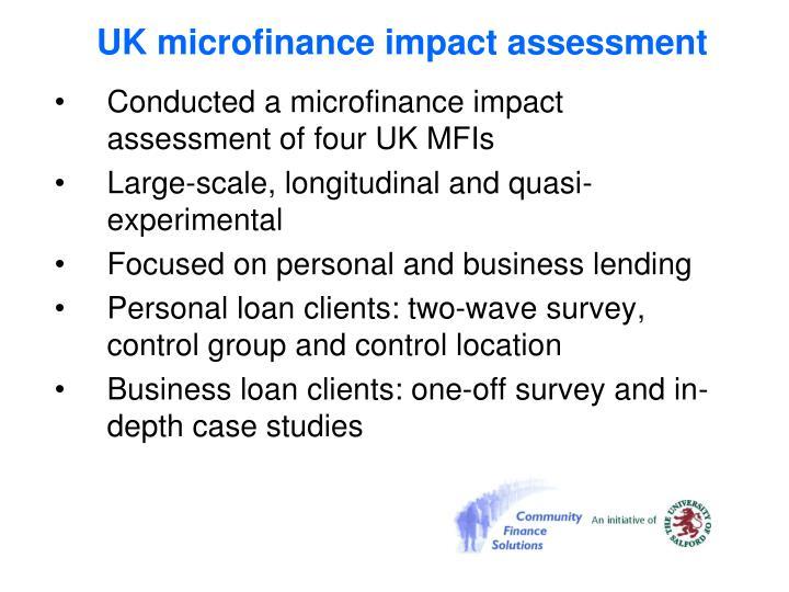 UK microfinance impact assessment