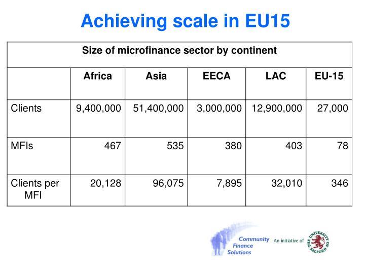 Achieving scale in EU15