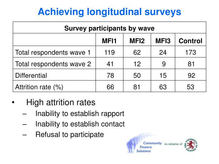 Achieving longitudinal surveys