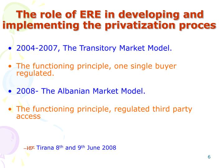 the role of privatization in improvement Privatization (also spelled privatisation) the more competitive the industry, the greater the improvement in output, profitability, and efficiency.