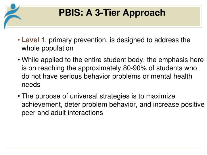 PBIS: A 3-Tier Approach