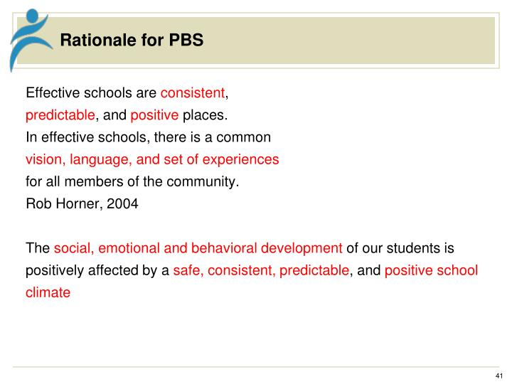 Rationale for PBS