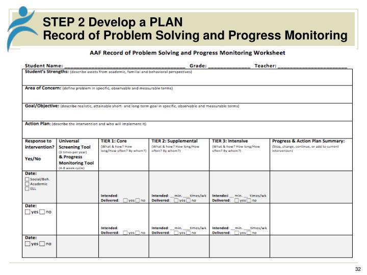STEP 2 Develop a PLAN