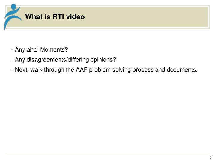 What is RTI video