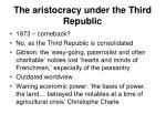 the aristocracy under the third republic