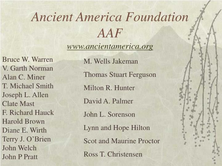 Ancient america foundation aaf www ancientamerica org