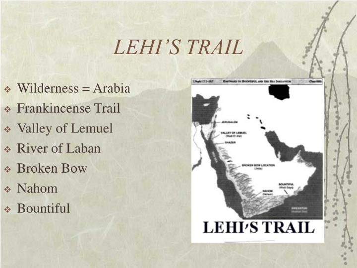 LEHI'S TRAIL