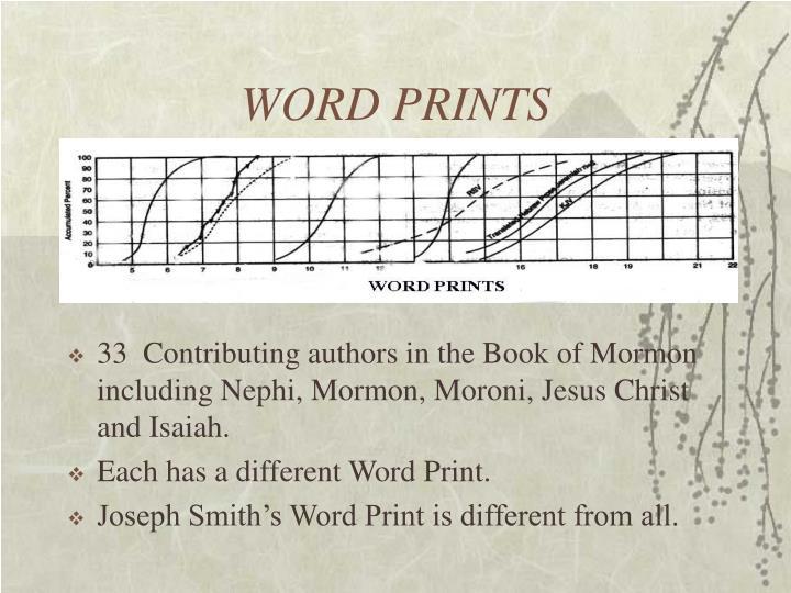 WORD PRINTS