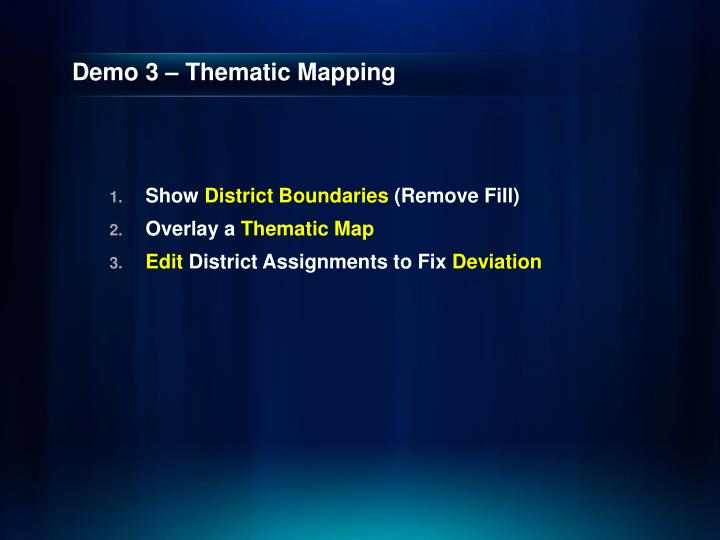 Demo 3 – Thematic Mapping