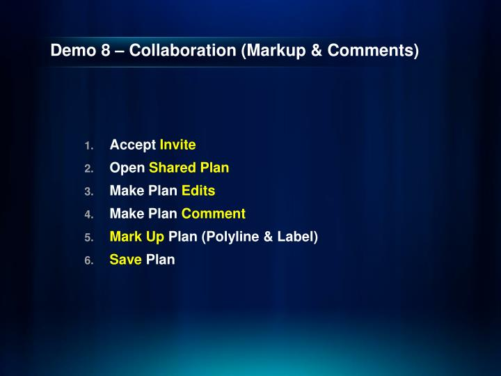 Demo 8 – Collaboration (Markup & Comments)