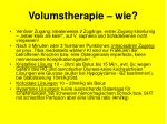 volumstherapie wie