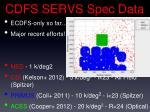 cdfs servs spec data