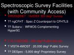spectroscopic survey facilities with community access