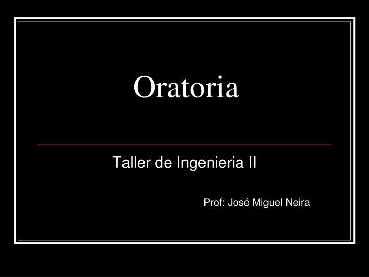 oratoria n.