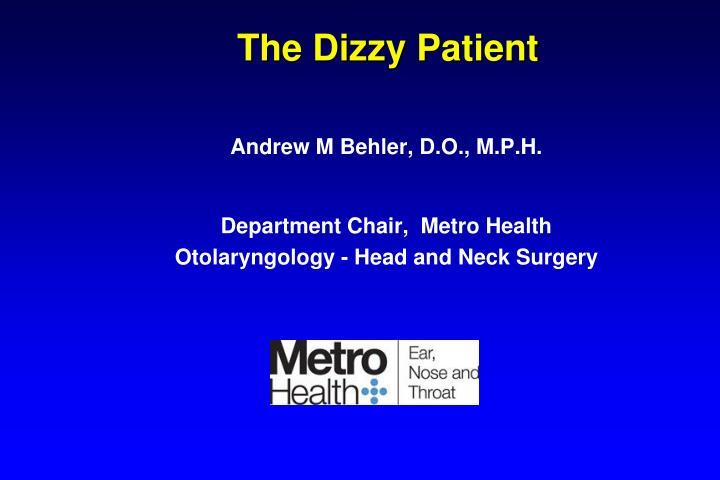 the dizzy patient n.