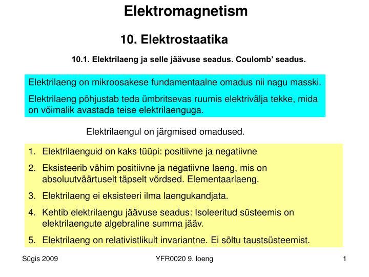 10 elektrostaatika