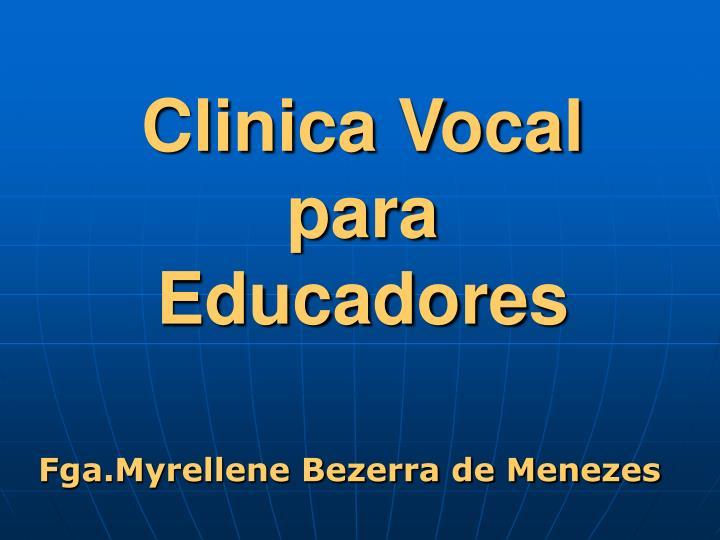clinica vocal para educadores n.