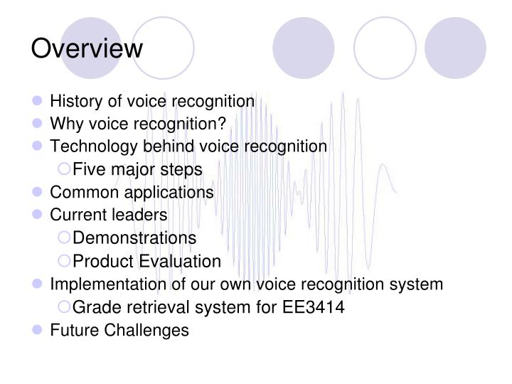 an overview of voice recognition systems and their use Speaking to read: the effects of continuous vs discrete speech recognition systems on the reading and spelling of children with learning disabilities journal of special education technology, 15 (1), 19-30.