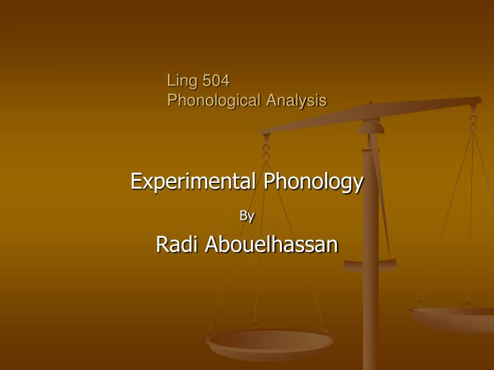 Ling 504 phonological analysis