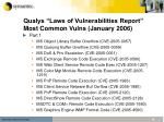 qualys laws of vulnerabilities report most common vulns january 2006