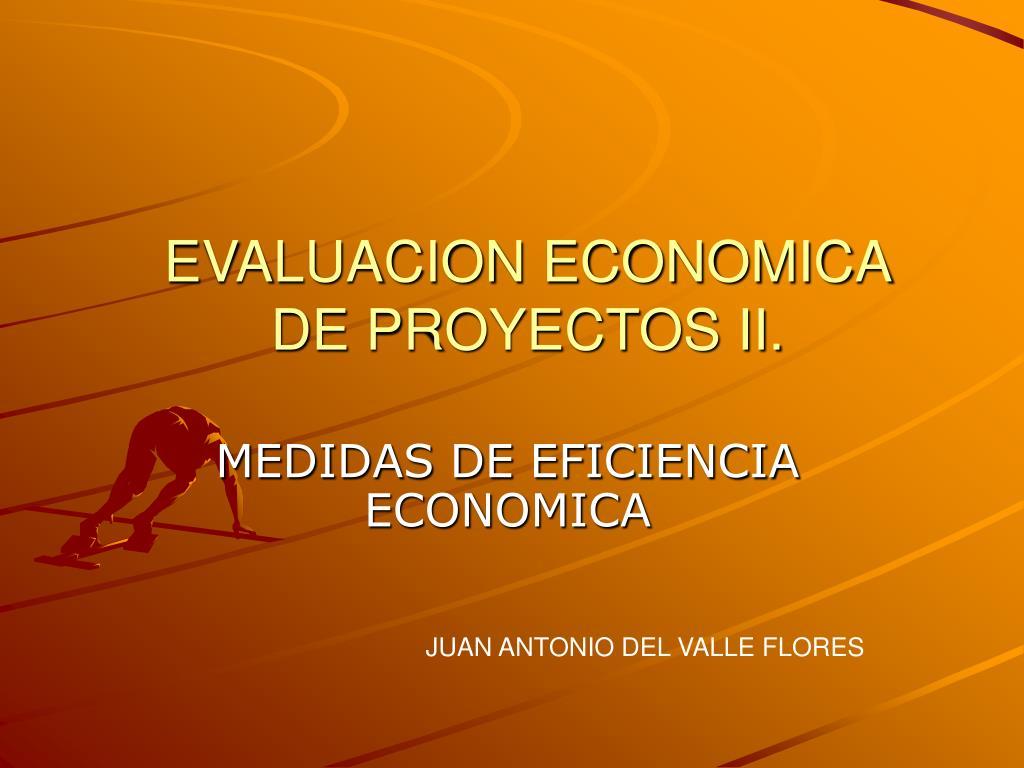 Evaluacion de proyectos. Análisis económico financiero.