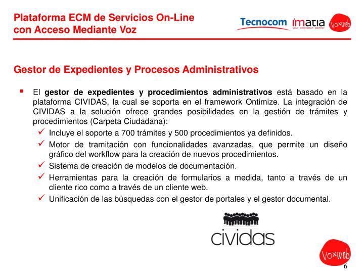Gestor de Expedientes y Procesos Administrativos