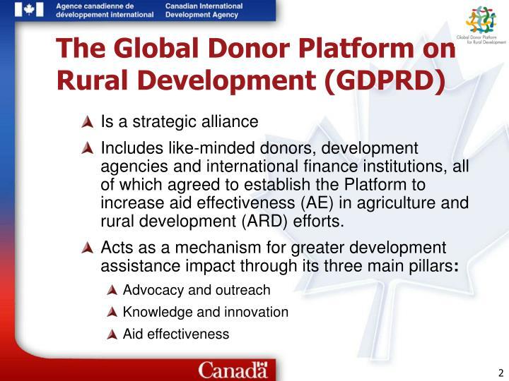 The global donor platform on rural development gdprd