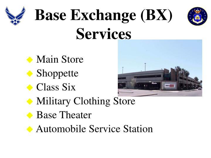 Base Exchange (BX) Services