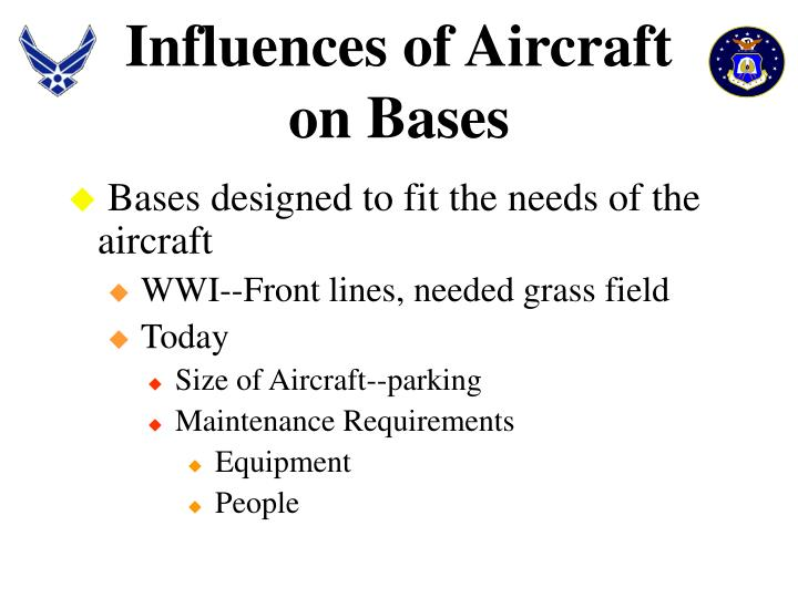Influences of Aircraft on Bases