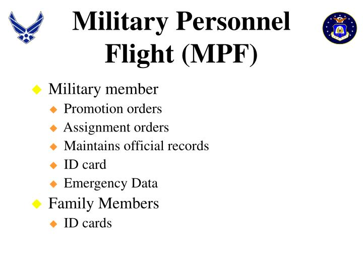 Military Personnel Flight (MPF)