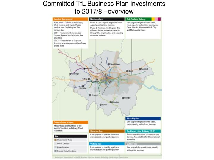 Committed TfL Business Plan investments