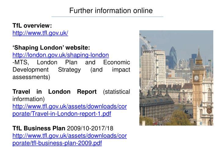 Further information online